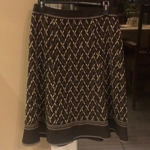 Ann Taylor Skirt with embroidered detail